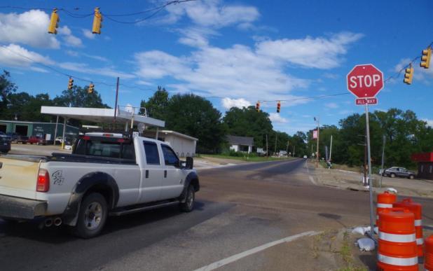 Vehicle Wreck at Four-Way Stop, No Injuries