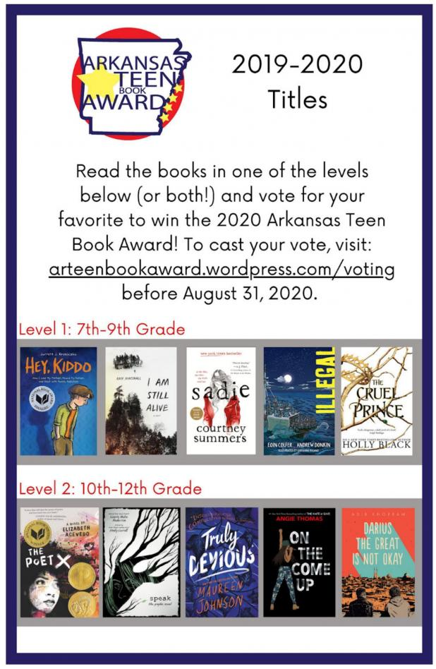 Arkansas Teen Book Award Nominees