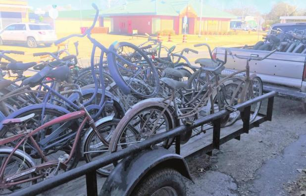 Local Family Donates Bicycles to Charity