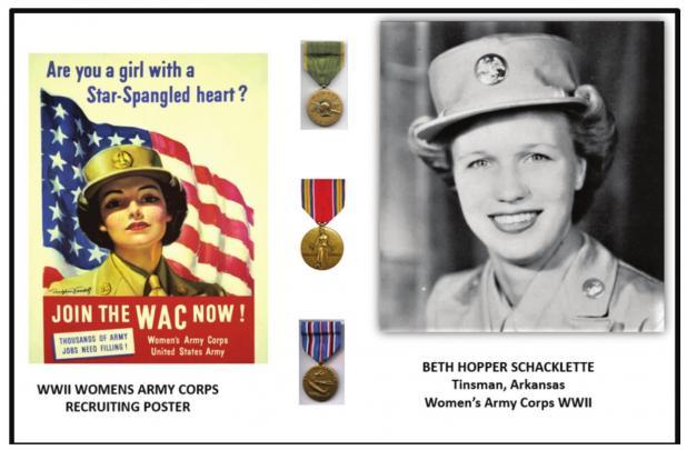 Beth Harper Schacklette, WAC WWII