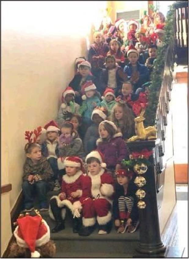 Kindergarten Class Carols at Courthouse